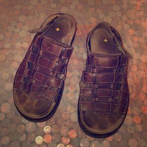 Dr Martens Brown Leather Fisherman Sandals Men's 9